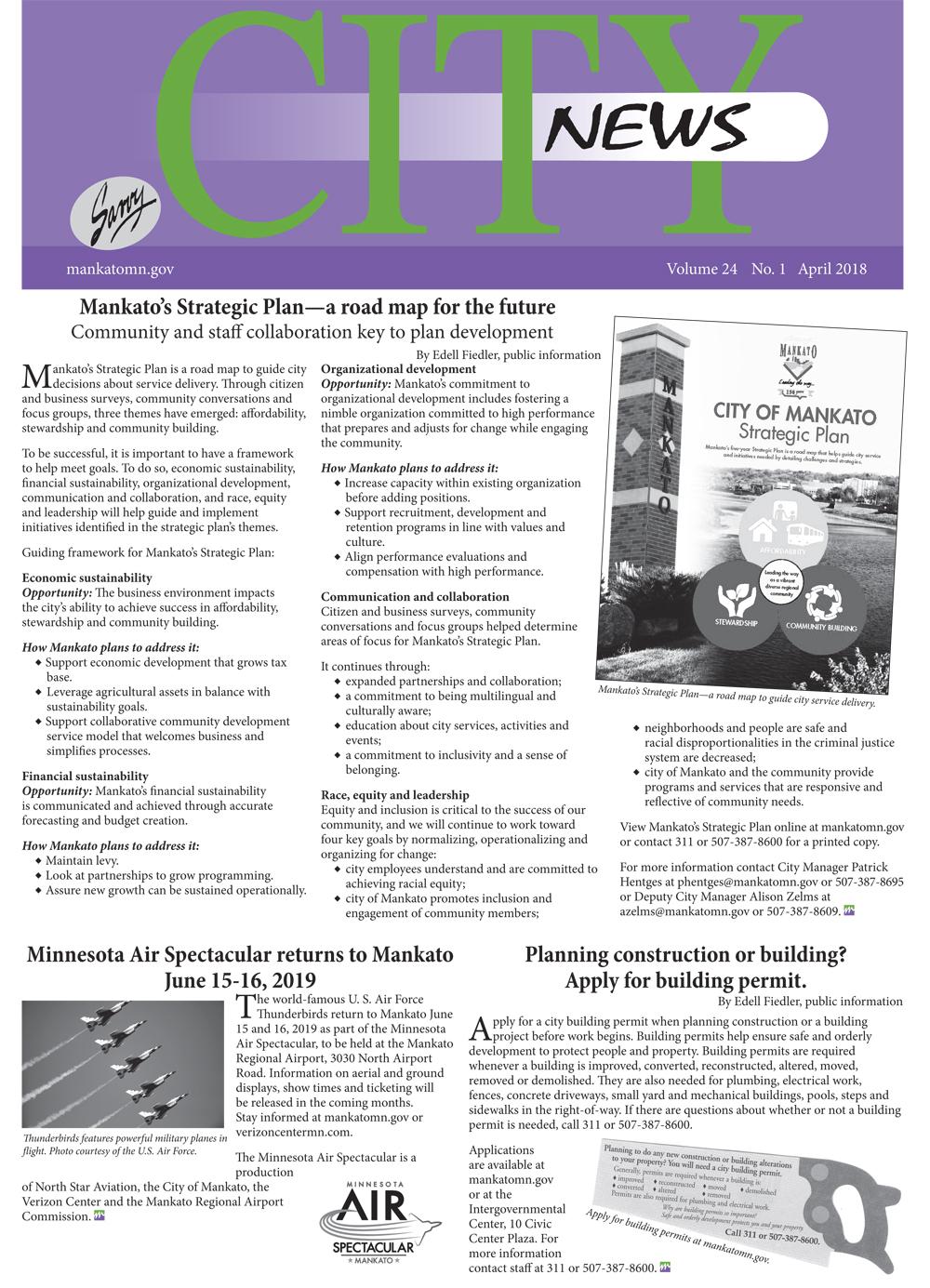 city school newsletter mankato mn